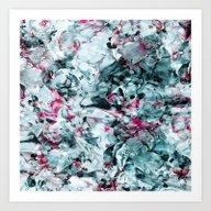 FLORAL WAVES Art Print