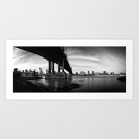 From The Brookly Bridge … Art Print