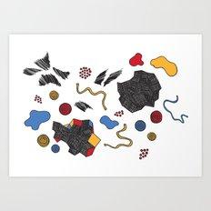 doodle conversation Art Print