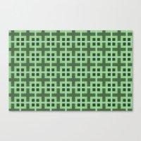 Pattern Green Canvas Print