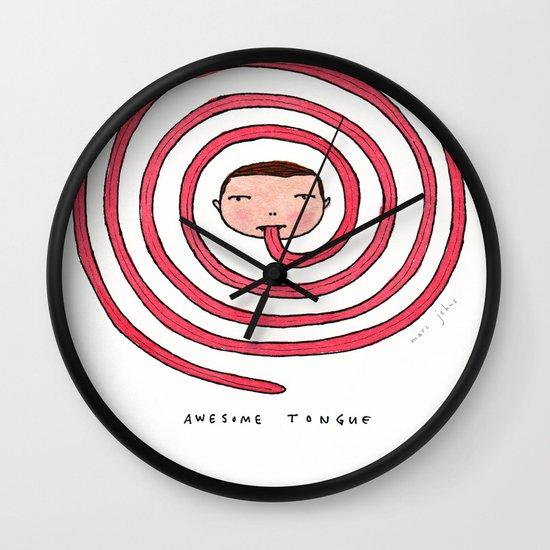 Awesome tongue Wall Clock