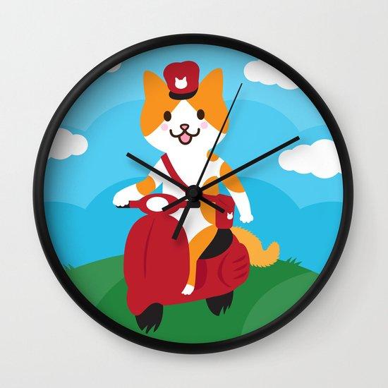 Postcat Wall Clock