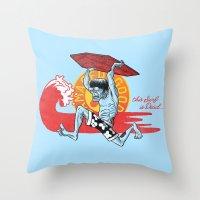 Dead Surf Throw Pillow
