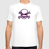 Skully 3D Mens Fitted Tee White SMALL