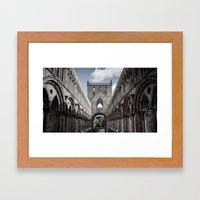 Faded Memories: Jedburgh Nave Framed Art Print