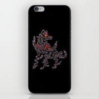 Okami Amaterasu - Cherry Blossom Form [BLACK] iPhone & iPod Skin