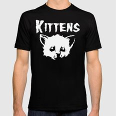 Goth Kittens SMALL Mens Fitted Tee Black