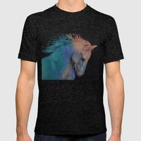 Stallion Mens Fitted Tee Tri-Black SMALL