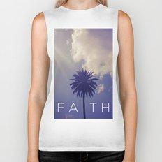 Palm Tree Faith Biker Tank