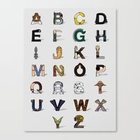 Star W. Alphabet Canvas Print