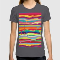 The Melting Womens Fitted Tee Asphalt SMALL