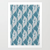 HANDLE-BLUE Art Print