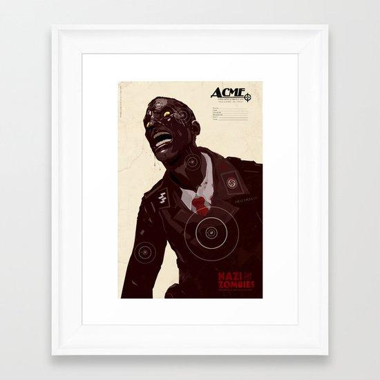 Nazi Zombies - Target Practice Framed Art Print