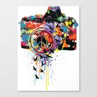 Paint DSLR Canvas Print