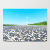 Blue Sky, Back Road Canvas Print