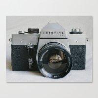 Praktika 35mm Vintage Camera Canvas Print