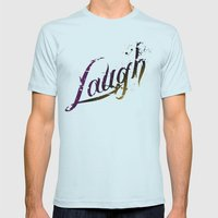 Laugh Mens Fitted Tee Light Blue SMALL