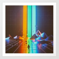 Art Print featuring RGB (08.07.15) by Beeple