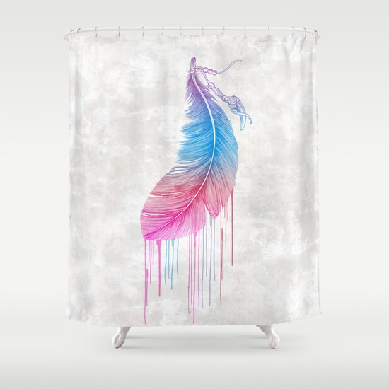 Colors of a Feather Shower Curtain