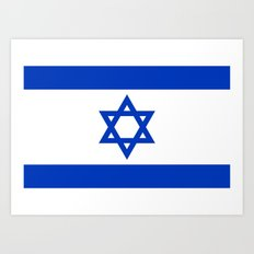 The National flag of the State of Israel Art Print