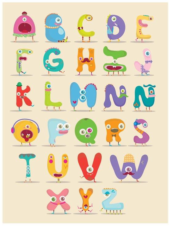 Monster alphabet Art Print