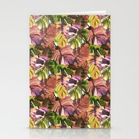 Welcome to the Jungle Palm Aubergine Stationery Cards