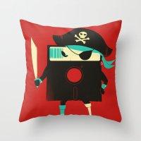 Software Pirate Throw Pillow