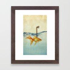 periscope goldfish Framed Art Print