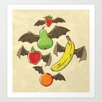 Fruit Bats Art Print