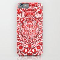 Illusionary Daisy (Red) iPhone 6 Slim Case