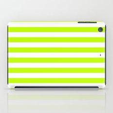 Horizontal Stripes (Lime/White) iPad Case