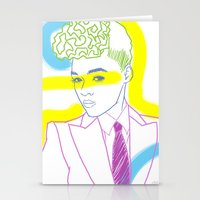 "Stationery Card featuring ""The Electric Lady"" by Tim Lukowiak by Consequence of Sound"