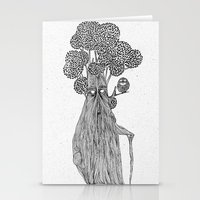 the old treebeard & the blind owl Stationery Cards