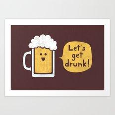 Drinking Buddy Art Print