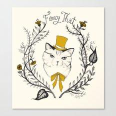 Fancy That, Top Hat Cat Canvas Print