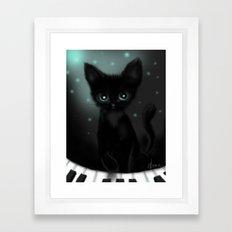 Musical Kitten Framed Art Print