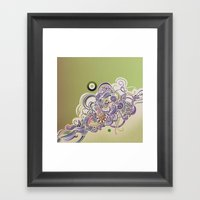 Detailed Diagonal Tangle Framed Art Print