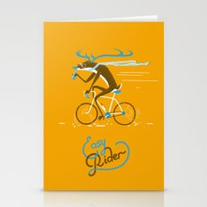 Easy Rider // (cycling hipster deer) Stationery Cards