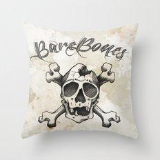 cross bones Throw Pillow