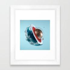 Planet Core Framed Art Print