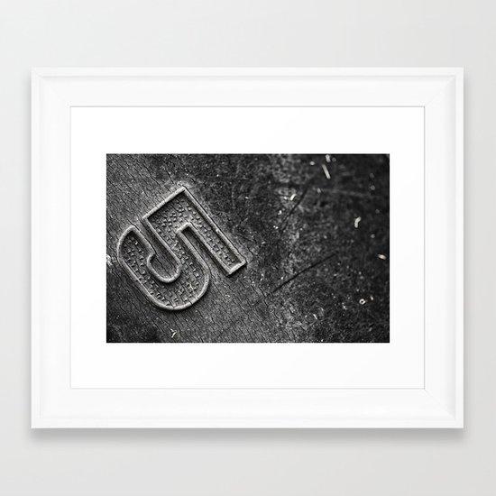Number 5 Framed Art Print