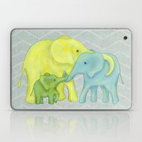 Elephant Family of Three Laptop & iPad Skin