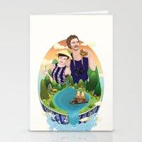 Couple custom illustration for I&S Stationery Cards