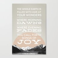 Psalm 65:8 Canvas Print