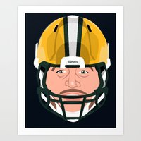 Faces-Green Bay Art Print
