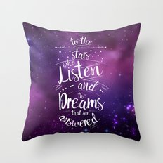 ACOMAF- To the Stars Who Listen And the Dreams that are Answered Throw Pillow
