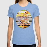 Glitch Pin-Up: Isabella Womens Fitted Tee Tri-Blue SMALL