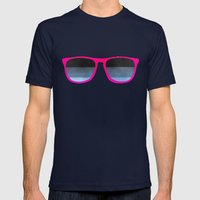 pink shades Mens Fitted Tee Navy SMALL