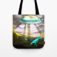 Aliens do exist - dino exctinction event Tote Bag
