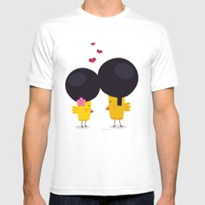 Afro Love Mens Fitted Tee White SMALL